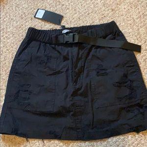 Black belted skirt